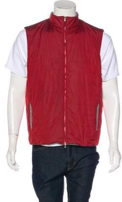 Isaia Quilted Zip Gilet