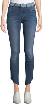 Loren Acynetic Dilone Skinny Cropped Asymmetric Jeans