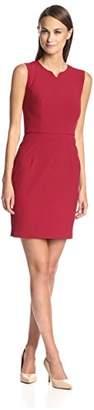 Society New York Women's Notched Neck Sheath Dress