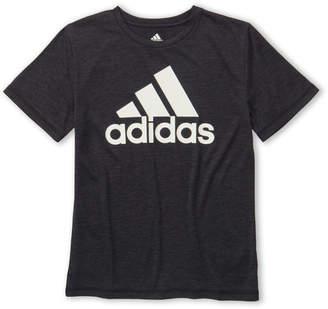 adidas Boys 8-20) Badge Logo Short Sleeve Jersey Tee