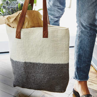 Aura Que Handmade Felt Ombre Ista Shopper Bag