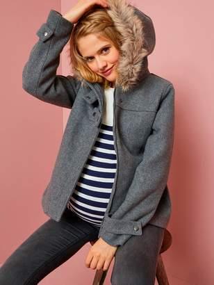 Vertbaudet Maternity Short Woollen Coat