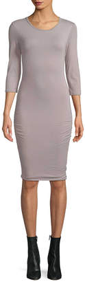 James Perse Crewneck Fitted Dress