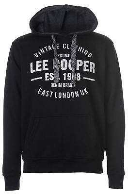 Lee Cooper Mens OTH Logo Sweater Hoodie Jumper Pullover Hoody Hooded Top