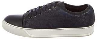 Lanvin Leather Cap-Toe Sneakers