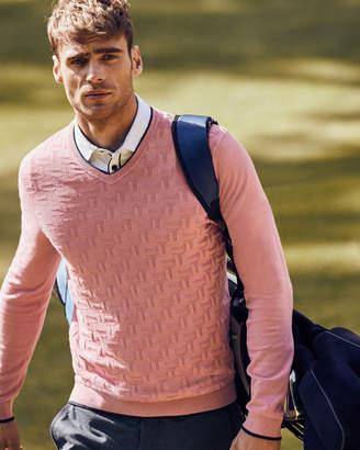 Ted Baker ARMSTRO Textured V-neck jumper