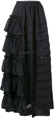 Isa Arfen long flared skirt
