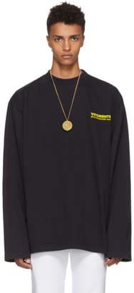Vetements Black Long Sleeve Metal T-Shirt