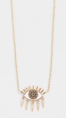 Sydney Evan 14k Gold Kaleidoscope Eye Fringe Necklace