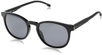 HUGO BOSS BOSS by Men's Boss 0922/s Polarized Oval Sunglasses