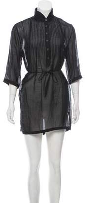 Rag & Bone Semi-Sheer Mini Dress