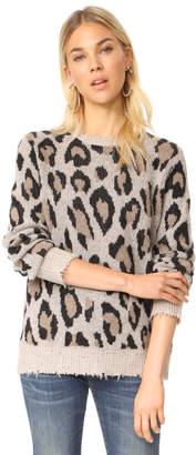 R 13 Leopard Cashmere Sweater