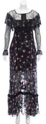 Preen by Thornton Bregazzi Floral Maxi Dress