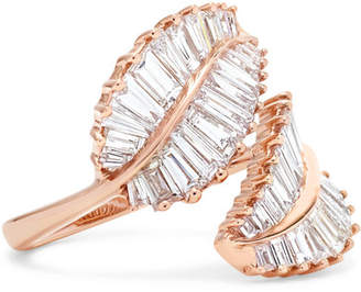 Anita Ko Palm Leaf 18-karat Rose Gold Diamond Ring