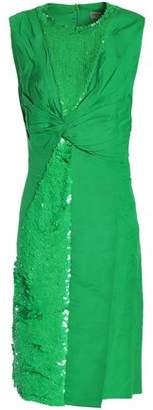 Emilio Pucci Sequin-Embellished Twist-Front Woven Dress