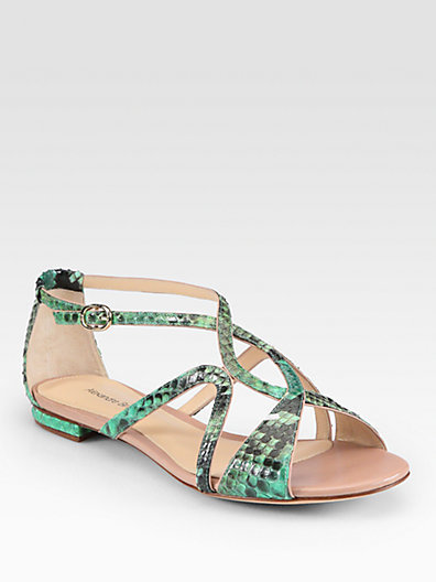 Alexandre Birman Strappy Python Sandals