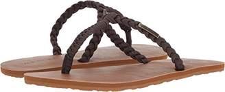 Volcom Women's Fishtail Braided T-Strap Sandal Flat