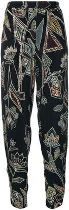 Just Cavalli elastic waist printed trousers