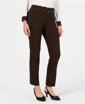 JM Collection Petite Studded Tummy-Control Pants