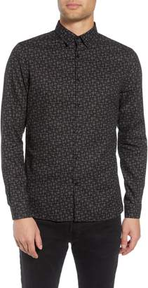 The Kooples Slim Fit Print Shirt