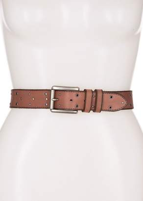 Frye 35mm Eyelet & Stud Leather Belt