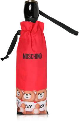 Moschino Bears in a Row Red Umbrella