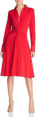 Donna Karan Twist-Front Shirt Dress