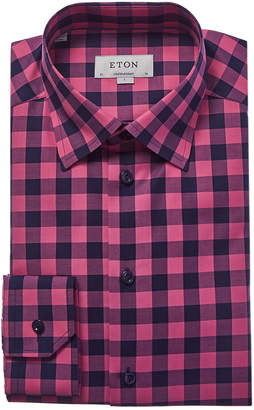 Eton Contemporary Fit Linen-Blend Dress Shirt