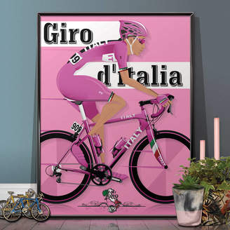 Wyatt9 Giro D'italia Grand Tour Bike Poster Wall Art Print