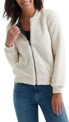 Lucky Brand Anaelisa Fleece Bomber Jacket