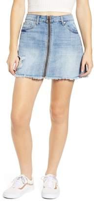 STS Blue Emily Zip Front Denim Miniskirt (Ashway)