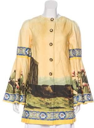a92a56fe Dolce & Gabbana Temple-Print Linen Blend Tunic