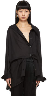 Ann Demeulemeester SSENSE Exclusive Black Asymmetric Shirt