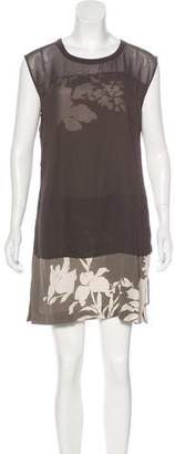 AllSaints Silk Layered Dress