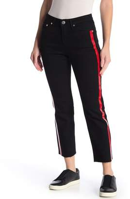 True Religion Starr Red Cropped Straight Jeans