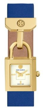 Tory Burch Tory Burch The Surrey Goldtone and Leather Strap Watch