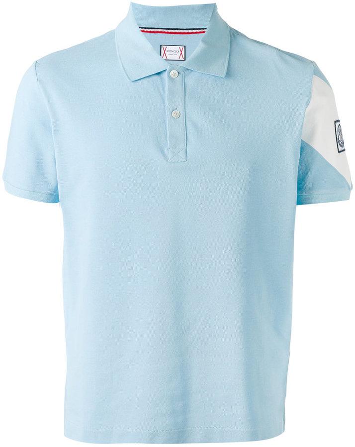 Moncler Gamme Bleu stripe detail polo shirt
