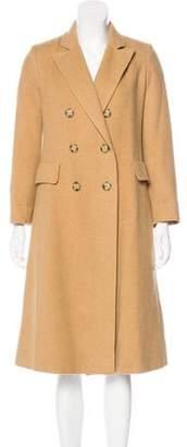 Fleurette Camel Double-Breasted Coat