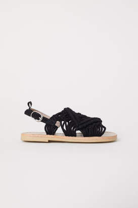 H&M Crocheted Sandals - Black