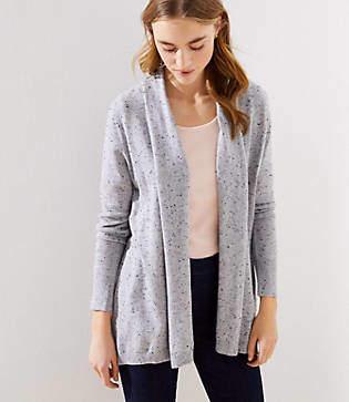 LOFT Speckled Soft Open Cardigan