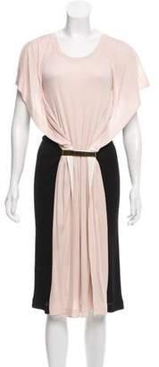 Vionnet Contrast Midi Dress