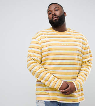 Puma Plus Long Sleeve Striped Top In Yellow Exclusive To Asos
