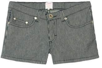 Little Karl Marc John Sale - Ireny Striped Denim Shorts