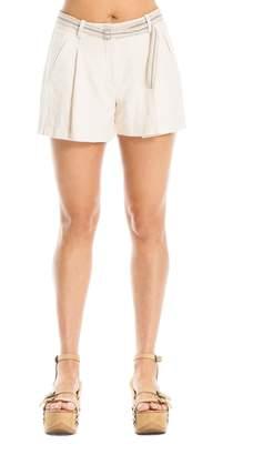 Max Studio Slub Cotton Shorts