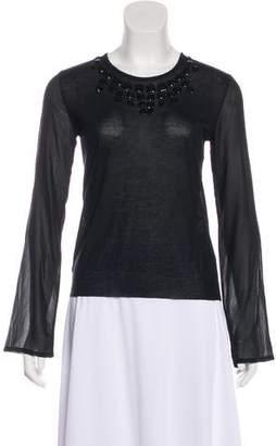 Christian Dior Cashmere-Silk-Blend Knit Sweater