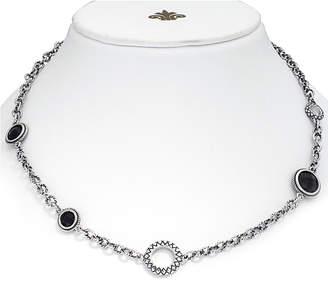 Candela Andrea Vida De Plata Silver Onyx Necklace