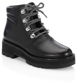 3.1 Phillip Lim Dylan Leather Lace-Up Hiking Boots