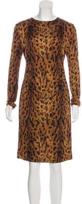 Tory Burch Animal Print Silk Dress