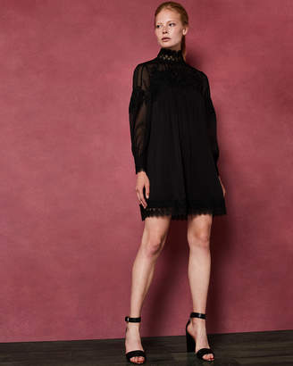 Ted Baker ANNEAH High neck lace long sleeved tunic