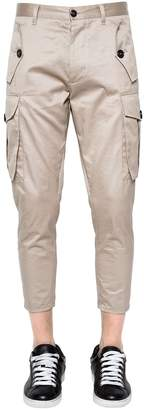 DSQUARED2 15cm Sexy Cargo Gabardine Pants W/ Zips